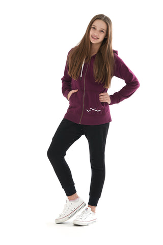 THE ADDISON HOODIE IN PLUM