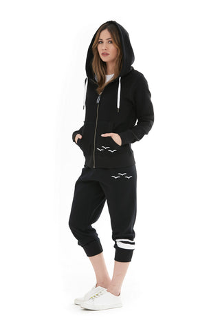 THE ADDISON HOODIE IN BLACK