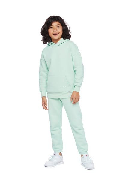Kids Niki and Cooper fleece set in mint from Lazypants - always a great buy at a reasonable price.