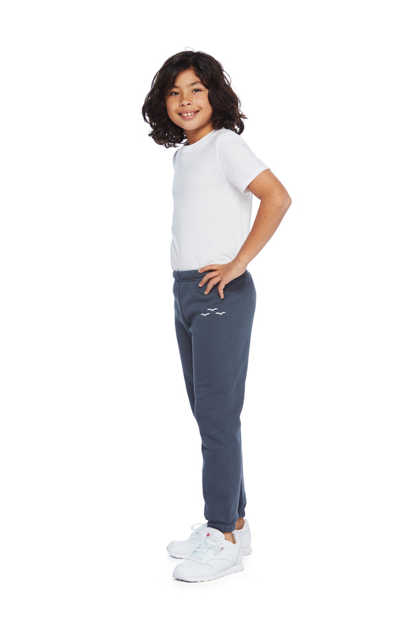 Niki Original kids sweatpants in navy wash from Lazypants - always a great buy at a reasonable price.