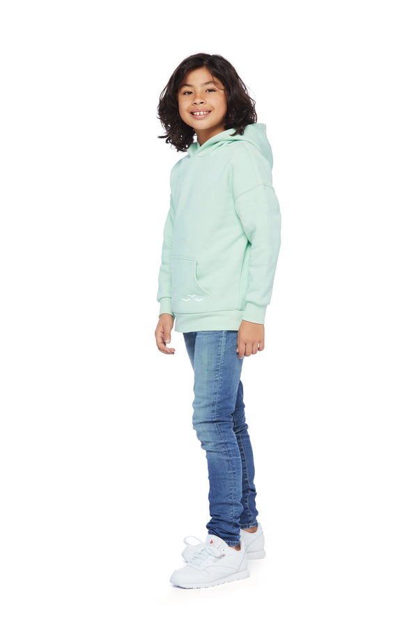 Kids Cooper Hoodie in Mint from Lazypants - always a great buy at a reasonable price.