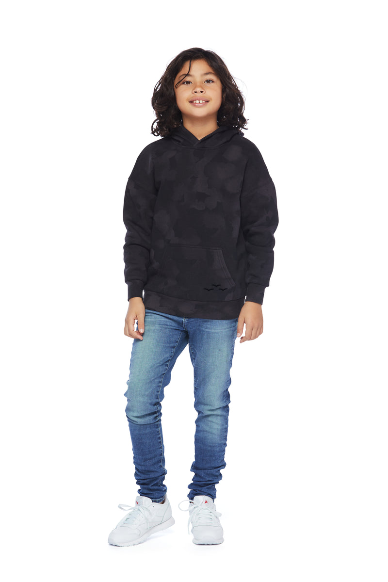 Kids Cooper hoodie in black sponge from Lazypants - always a great buy at a reasonable price.