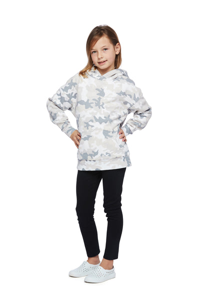Kids Cooper Hoodie in white camo from Lazypants - always a great buy at a reasonable price.