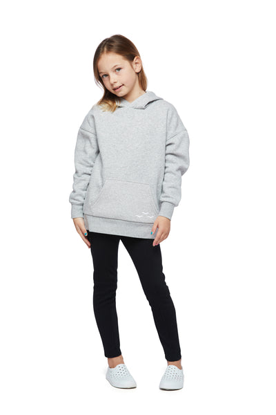 Kids Cooper Hoodie in Classic grey from Lazypants - always a great buy at a reasonable price.