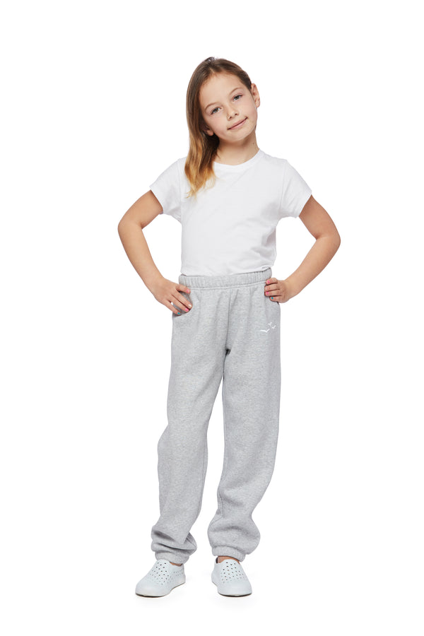 Niki Original kids sweatpants in classic grey from Lazypants - always a great buy at a reasonable price.