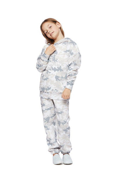 THE NIKI & COOPER FLEECE SET WHITE CAMO from Lazypants - always a great buy at a reasonable price.