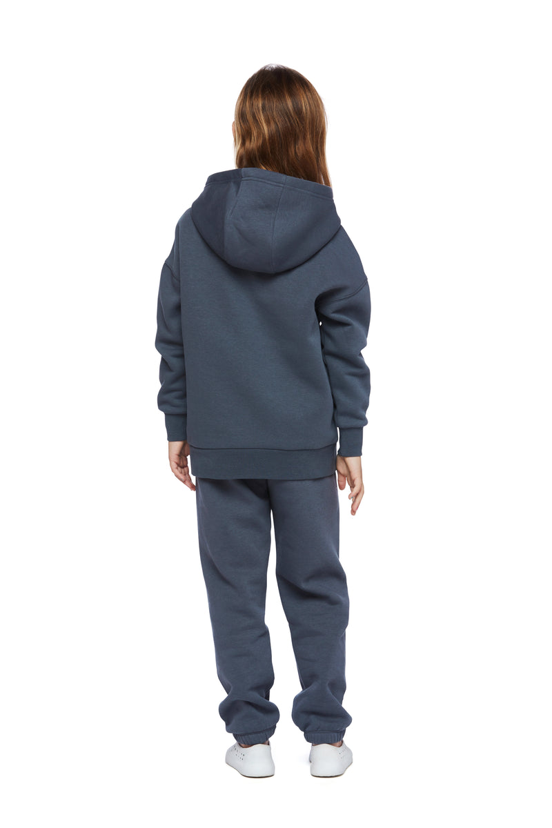 Kids Niki and Cooper fleece set in navy wash from Lazypants - always a great buy at a reasonable price.
