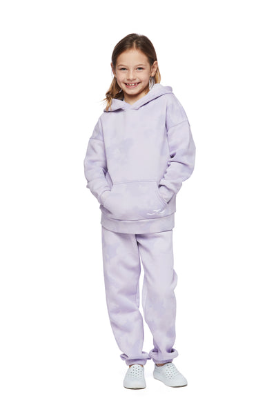 Kids Niki and Cooper fleece set in lavender sponge from Lazypants - always a great buy at a reasonable price.