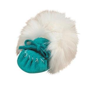 Turquoise Baby Moccasin