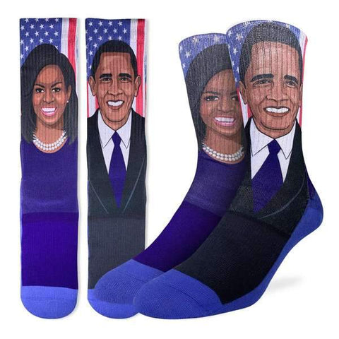 Michelle & Barack Obama Socks