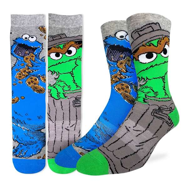 Oscar and Cookie Monster Socks