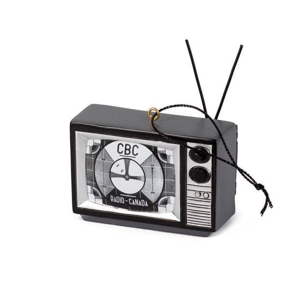 TV - BLACK & WHITE SIGNAL CBC ORNAMENT