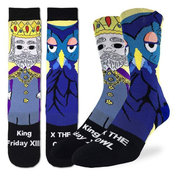 Mister Rogers King Friday Socks