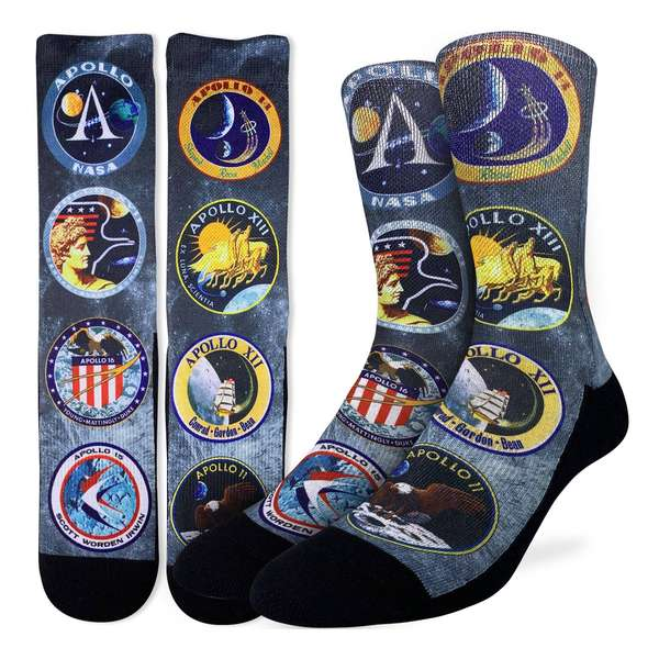 Apollo Mission Patches Socks