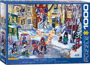 The Usual Gang by Katerina Mertikas Puzzle