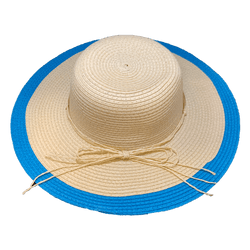 Blue Trim Summer Hat