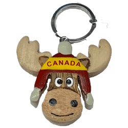 Moose Face keychain