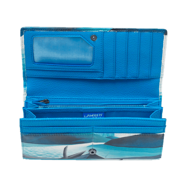 Lawren Harris Lake and Mountains Wallet (Blue/White)