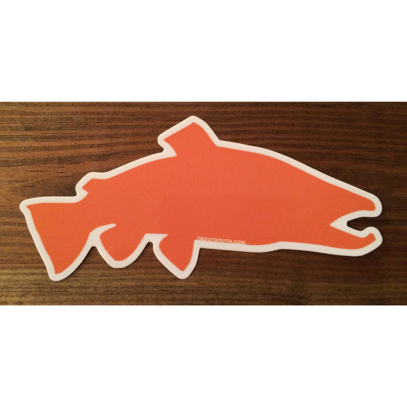 Trout South™ Orange/White Decal