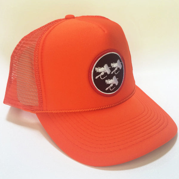 Blaze Orange Foam Trucker