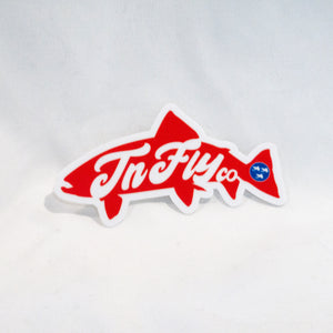 Retro FLYCO Trout Decal