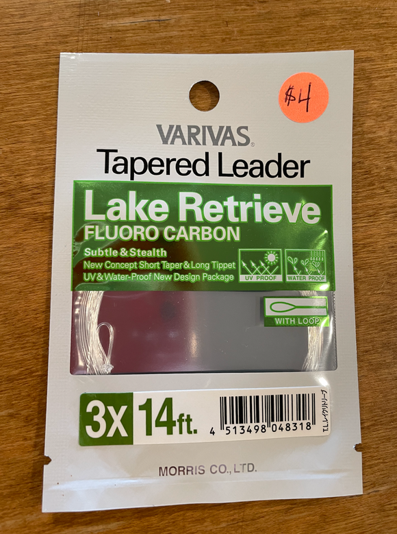 Lake Retrieve Fluoro Carbon Tapered Leader