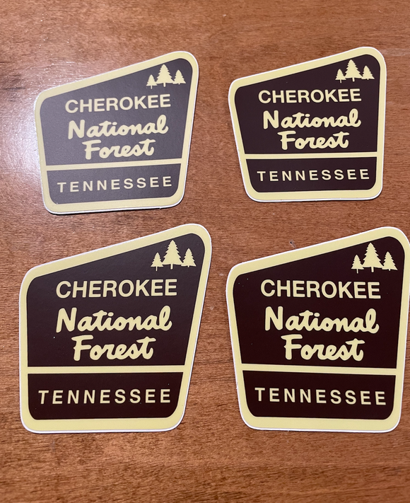 Cherokee National Forest Decal