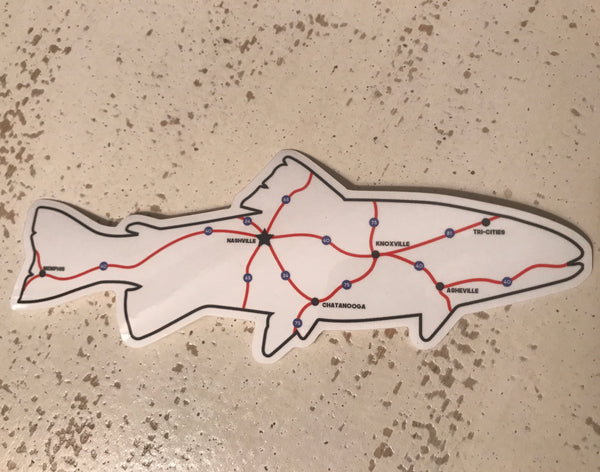 Trout Map Decal