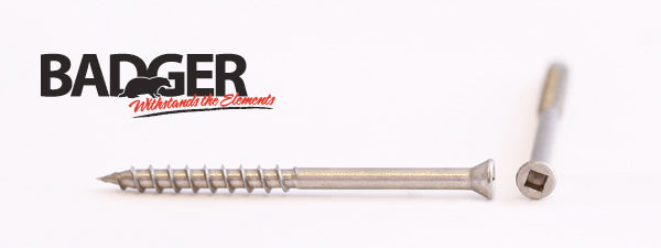 7-8X2-1/4 Badger™ Square Drive Trim Head Screw