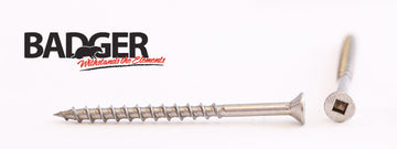 8-8X2-1/2 Badger™ Square Drive Flat Head Screw