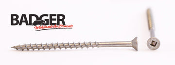 8-8X3 Badger™ Square Drive Flat Head Screw