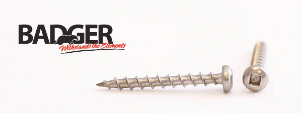 8-8X1-1/2 Badger™ Square Drive Pan Head Screw