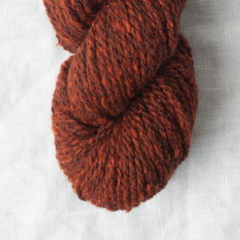 quince and co owl tweet 50% American Wool 50% Alpaca  10ply worsted  russet