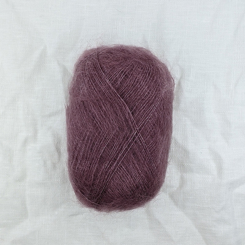 filcolana tilia mohair and silk blend yarn and co phillip island victoria australia mauve 349