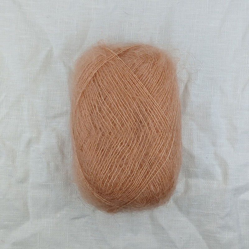 filcolana tilia mohair and silk blend yarn and co phillip island victoria australia winter peach 341
