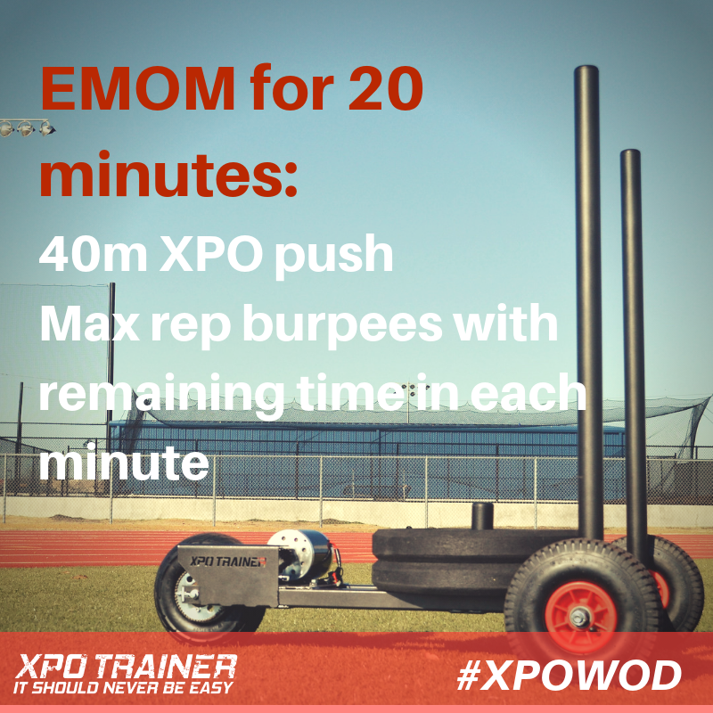 Armored Fitness Push Sled Workout - XPO Push + Burpee EMOM