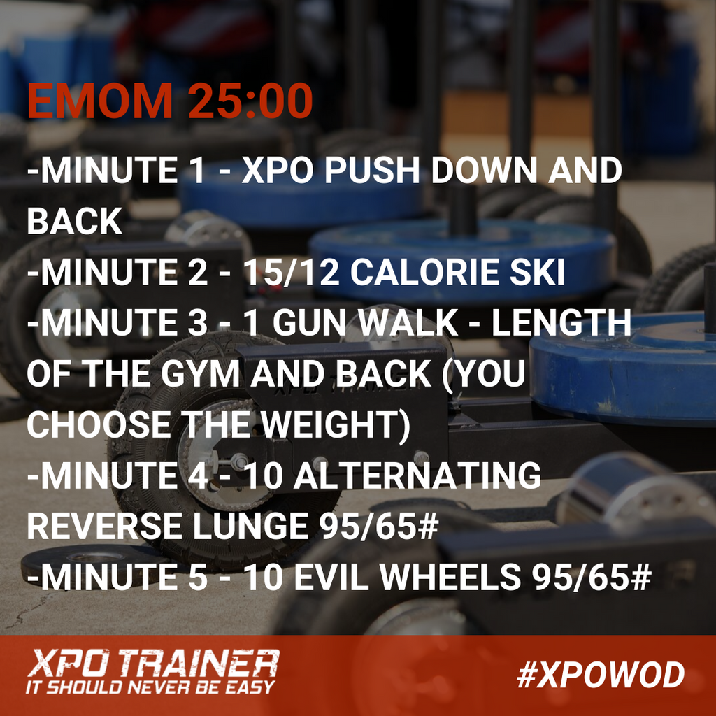 Armored Fitness Push Sled Workout - 25 Minute EMOM