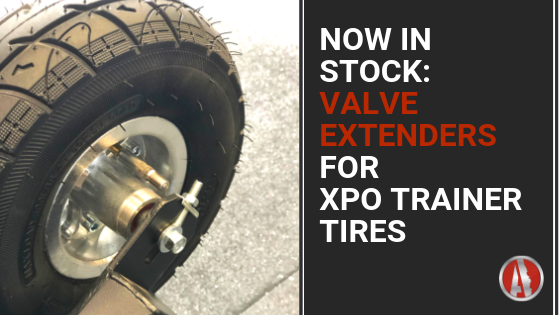 New Valve Extenders Make Adding Air to XPO Trainer Tires a Breeze!