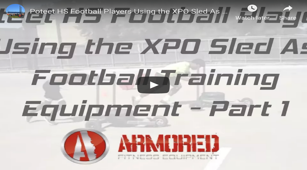 Poteet HS Football Players Using the XPO Sled As Football Training Equipment - Part 1