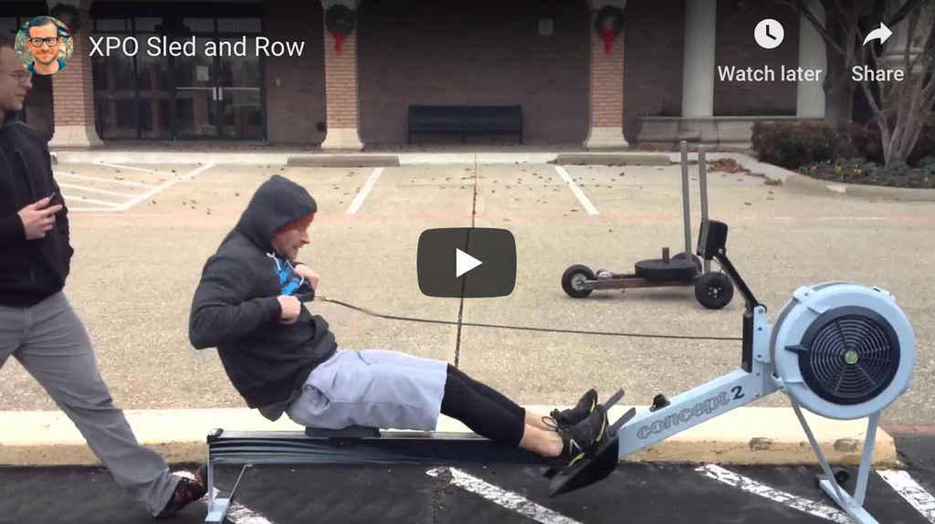 XPO Trainer Push Sled and Row Workout