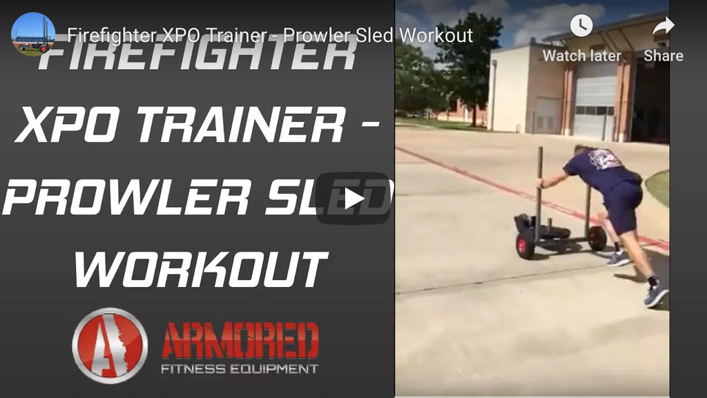 Firefighter XPO Trainer - Prowler Sled Workout
