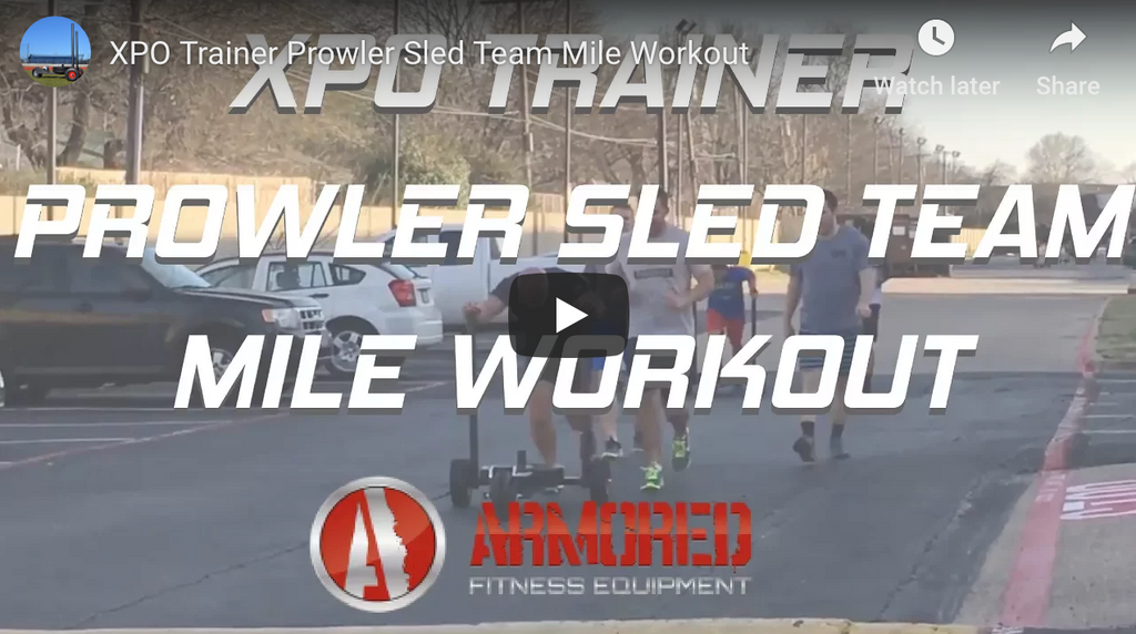 XPO Trainer Prowler Sled Team Mile Workout