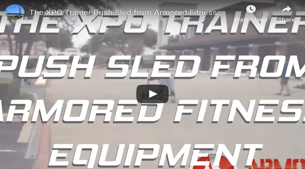 The XPO Trainer Push Sled from Armored Fitness Equipment