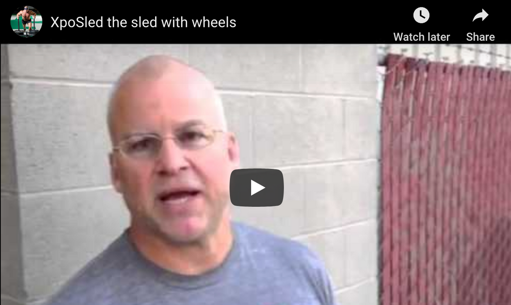 XPO Sled: The Push Sled with Wheels by Mark Bell of Sling Shot
