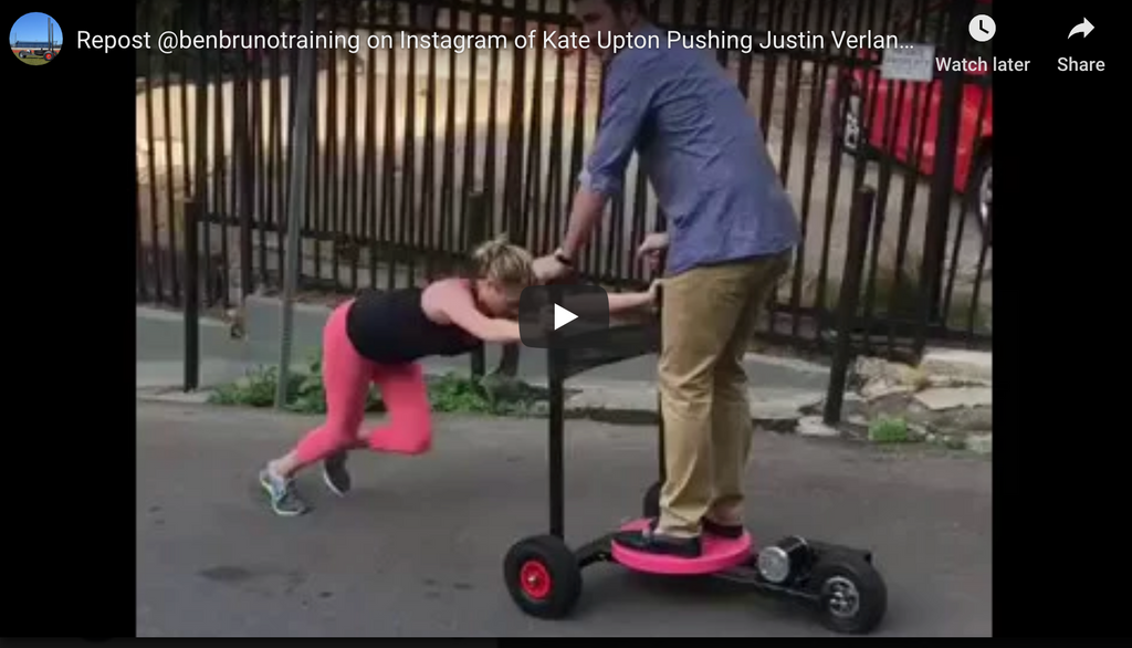 Ben Bruno Training: Kate Upton Pushing Justin Verlander on the XPO Trainer Push Sled