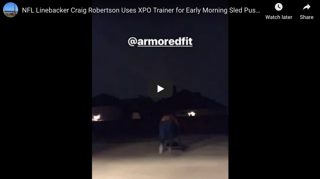 NFL Linebacker Craig Robertson Uses XPO Trainer for Early Morning Sled Push Workout