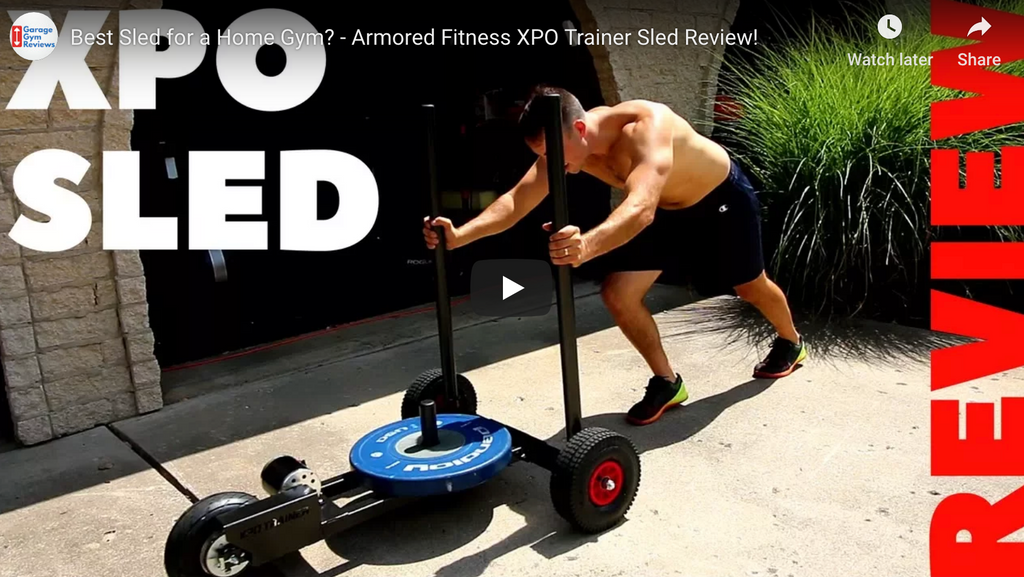 Best Push Sled for a Home Gym? - Armored Fitness XPO Trainer Sled Review by Garage Gym Reviews