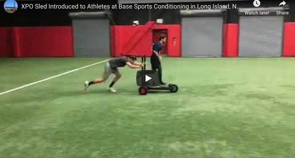XPO Sled Introduced to Athletes at Base Sports Conditioning in Long Island, New York