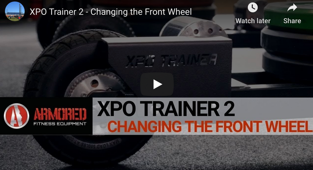 XPO TRAINER 2 - CHANGING THE FRONT WHEEL