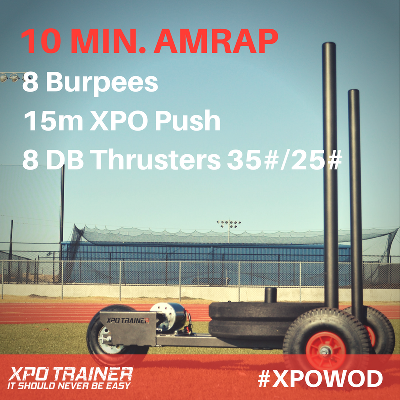 Armored Fitness - XPOWOD: Burpees and DB Thrusters!